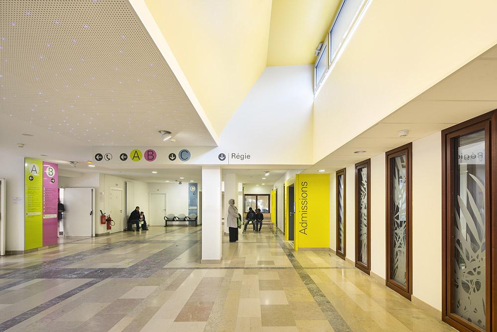 restructuration du hall de l 39 h pital de hautepierre strasbourg 67 nunc architectes. Black Bedroom Furniture Sets. Home Design Ideas